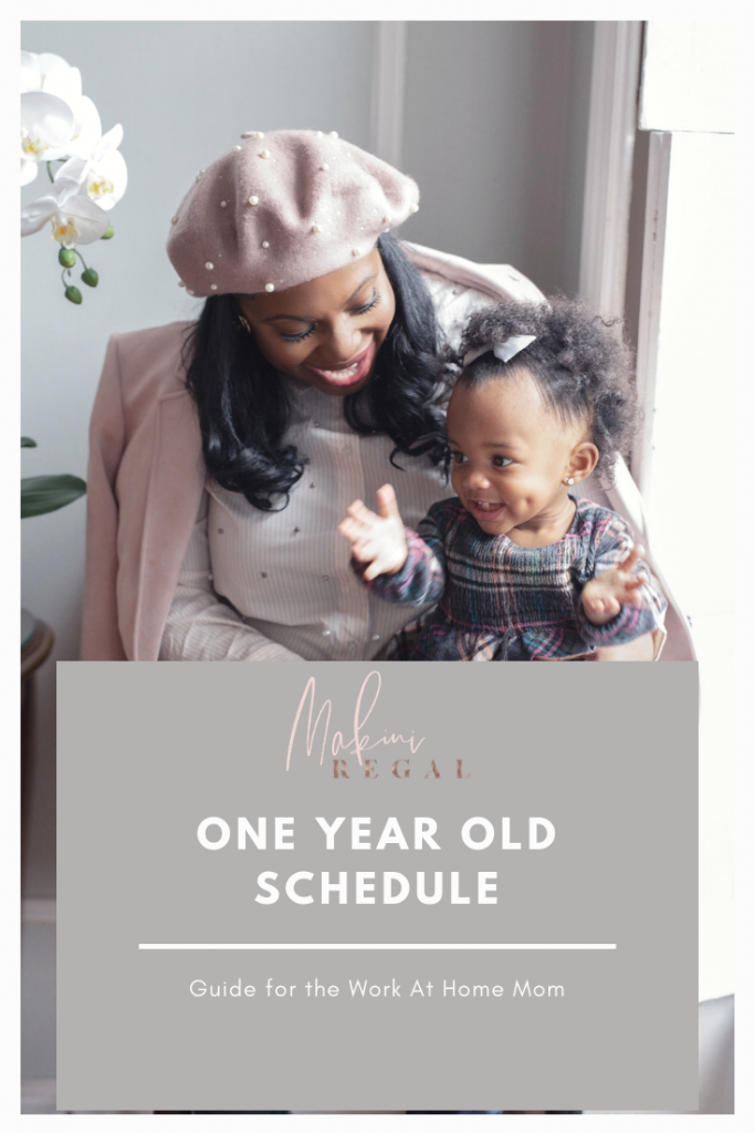 One year old schedule for the work at home mom.